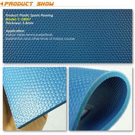 Embossed Pattern Surface Sport Vinyl Sheet Flooring