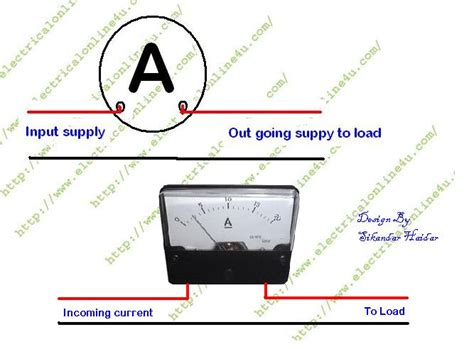 how to wire ammeter for dc and ac ere measurement