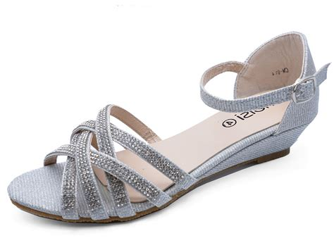 Silver Bridal Wedges by Silver Wedding Bridal Bridesmaid Diamante Wedge