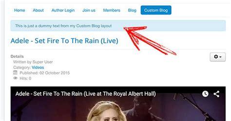 joomla blog layout limit text custom blog layouts in joomla with menu item type support