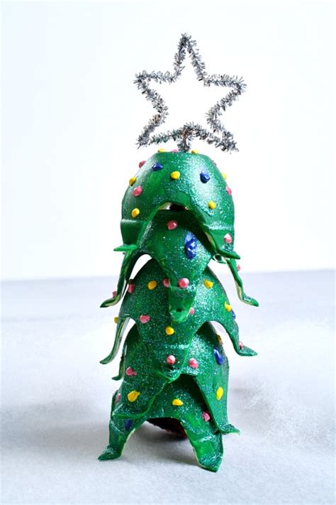 4h christmas tree from old egg carton egg tree craft