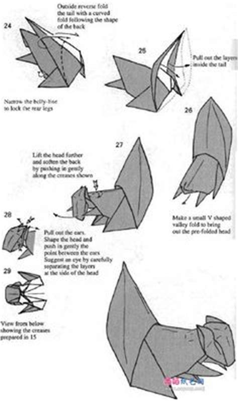 Origami Squirrel Diagram - origami sqirrel 3d origami and cool crafts