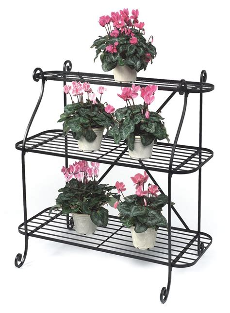 Patio Plant Stands Tiered by Wrought Iron 3 Tier Plant Stand Garden Trend