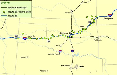 oklahoma texas map kansas oklahoma texas map route a discover our shared heritage travel itinerary
