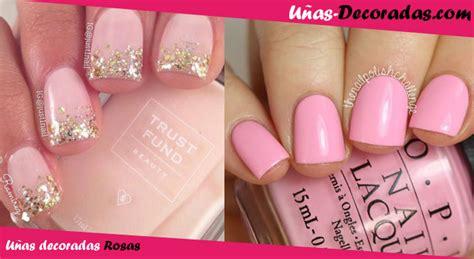 imagenes de uñas pintadas en color rosa las mejores ideas y dise 241 os de u 241 as decoradas en color rosa