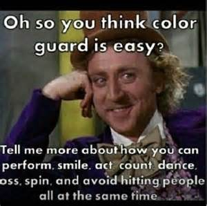 color guard jokes winter guard