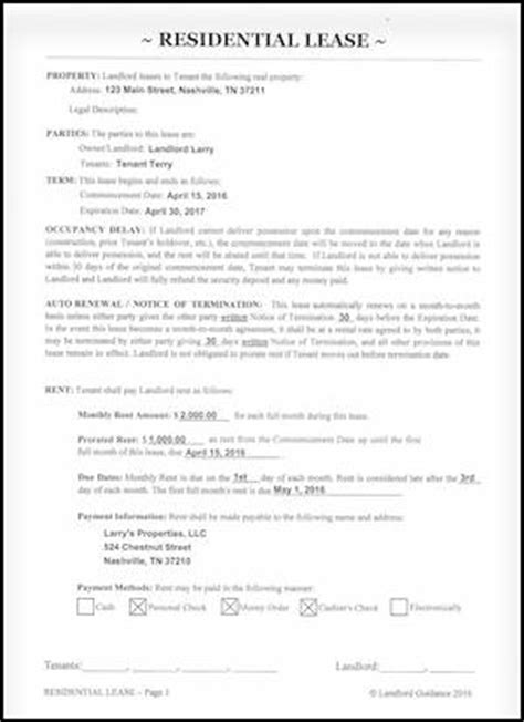Letter Of Credit Lease Provision A Virginia Rental Lease Agreement For Residential Property