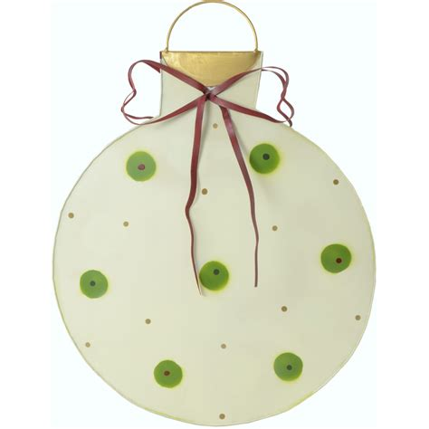 metal polka dot christmas ornament decoration white 18