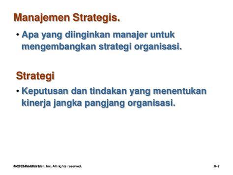 robbins 8 manajemen strategik