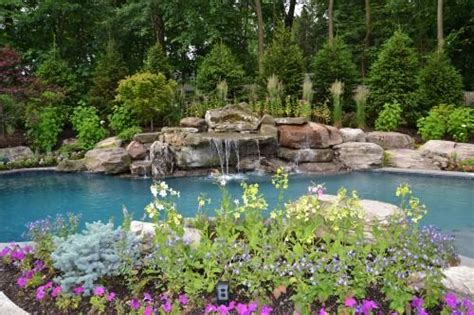 swimming pool landscaping pictures nj pool landscape design