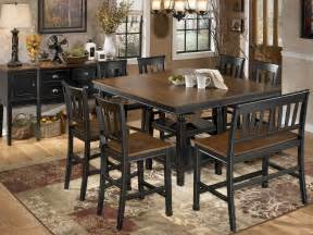counter height dining room set owingsville square counter height extendable dining room