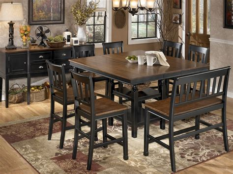 counter height dining room owingsville square counter height extendable dining room