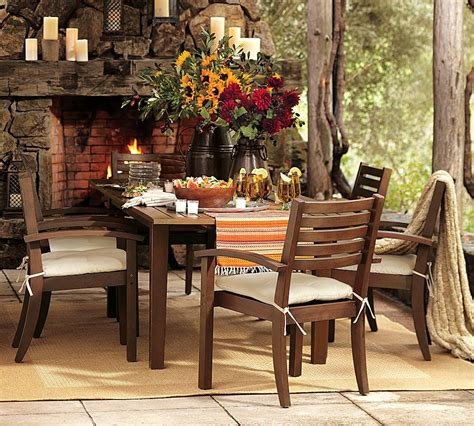 rustic outdoor patio furniture outdoor garden furniture by pottery barn
