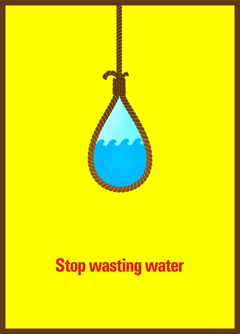 design poster save water stop wasting water posoter
