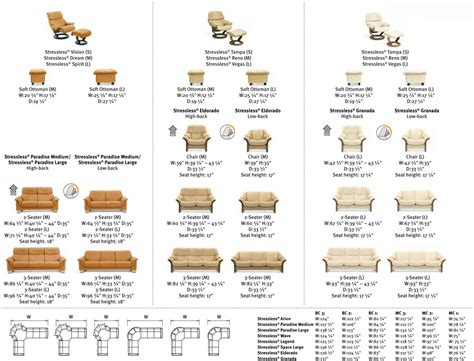recliner dimensions ekornes stressless recliner and sofa sizes dimensions