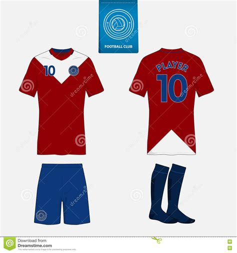 jersey design illustrator set of soccer kit or football jersey template front and