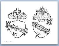 sacred heart coloring page sacred heart of jesus coloring page