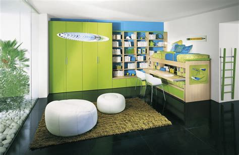 modern design green kids room ideas home caprice green awesome kids study room with bunk beds built in large