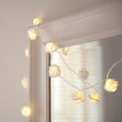 Flower String Lights For Bedroom 30 Warm White Led Lights On Clear Cable Lights4fun Co Uk