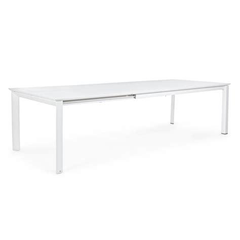 tavolo da esterno allungabile tavolo da esterno rettangolare bianco allungabile 200