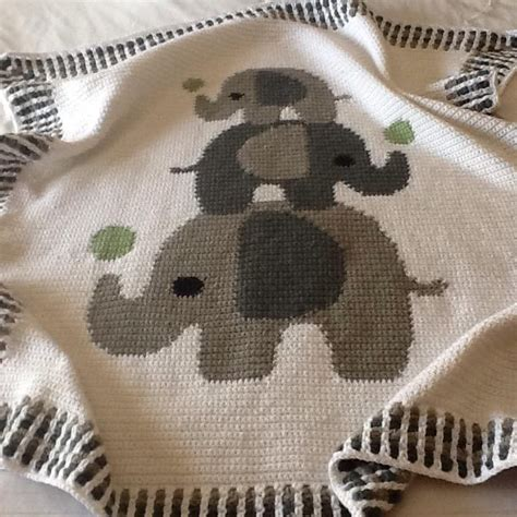 crochet pattern elephant baby blanket crochet baby blanket three elephants crochet project by