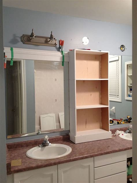 Big Bathroom Mirror Hometalk Large Bathroom Mirror Redo To Framed Mirrors And Cabinet