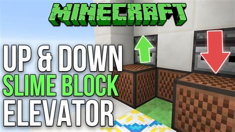 slime block tutorial cubehamster minecraft 1 12 simple slime block elevator up and down