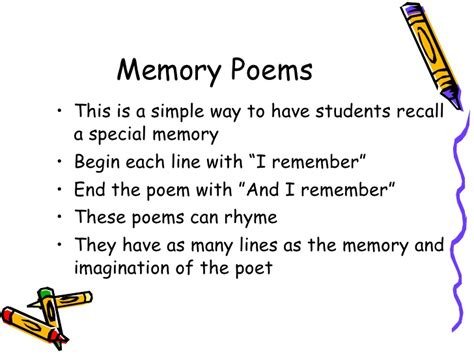 memory poem template poetry and technology book