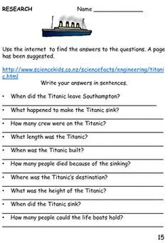 printable titanic quiz titanic activity worksheets gi titanic colouring pages