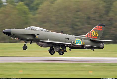 saab j32d lansen sweden air aviation photo