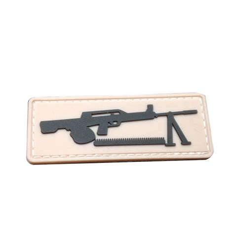 Patch Pacth Rubber 3d Airsoft Gun Rubber Patch Pvc gun tactical milspec usa army morale badge airsoft isaf 3d