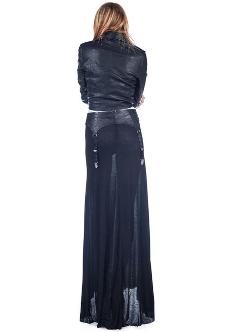 widow garter belt maxi skirt dolls kill