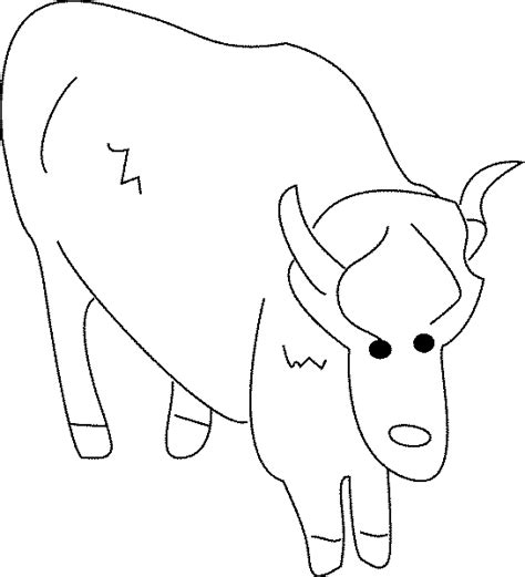 musk ox coloring coloring pages