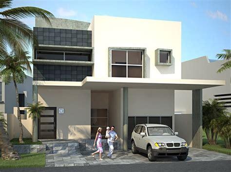 cocheras minimalistas fachadas con cochera doble