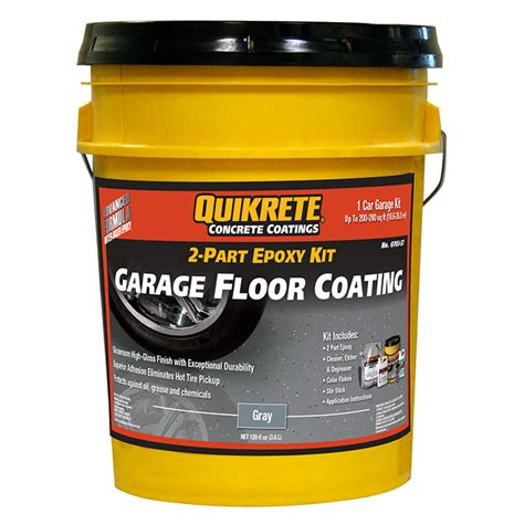 brand noqk quikrete garage floor epoxy gray kit ebay