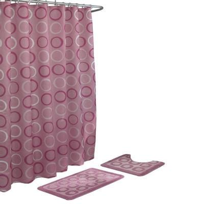 dusty rose curtains bath fusion terrell dusty rose 15 piece bath rug and