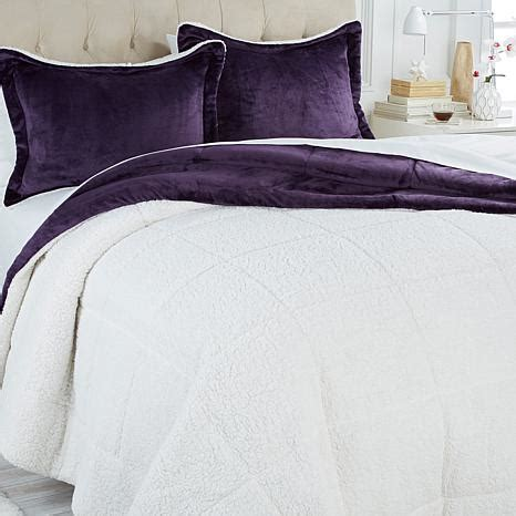 cozy soft comforter soft cozy sherpa comforter set 8084928 hsn