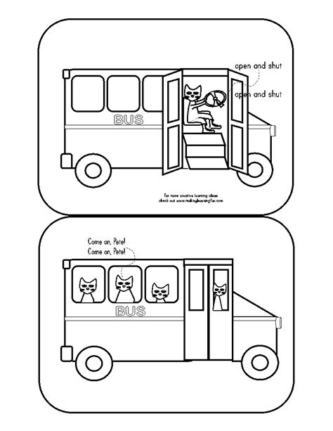 bus coloring pages preschool pete the cat wheels on the bus coloring page google