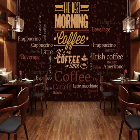 custom photo wallpaper custom retro coffee english text