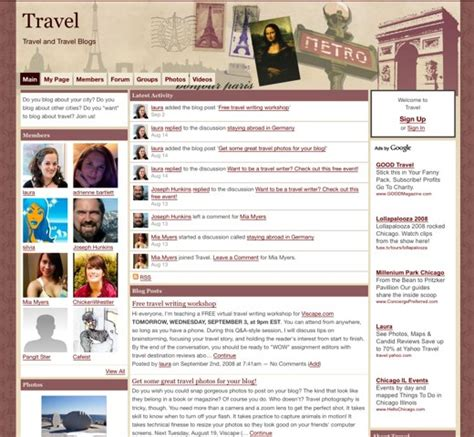 blogger travel abroad with travel blogs ning blog