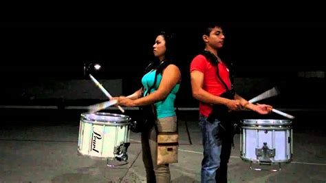 tutorial drum band amigos marching band snare drum training youtube