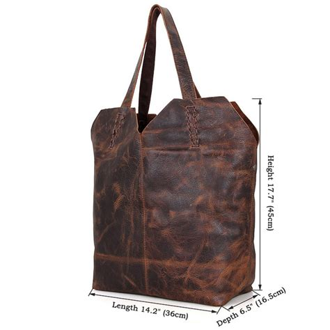 Leather Handmade Bags - designer vintage handmade leather tote bag