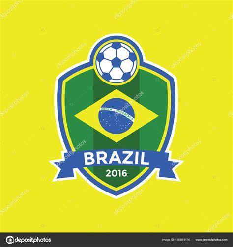 brazil flag colors brazil soccer flag colour badge stock vector 169 inueng