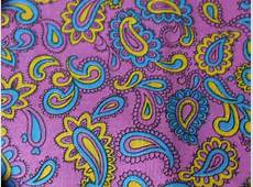 Purple Paisley Vintage 1960s Fabric Aqua by StilettoGirlVintage