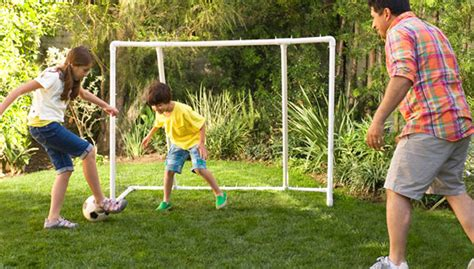 kids playing backyard football backyard soccer goal
