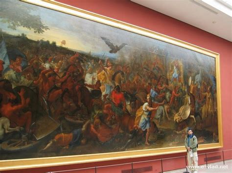 large paintings louvre museum paris france very large painting at the