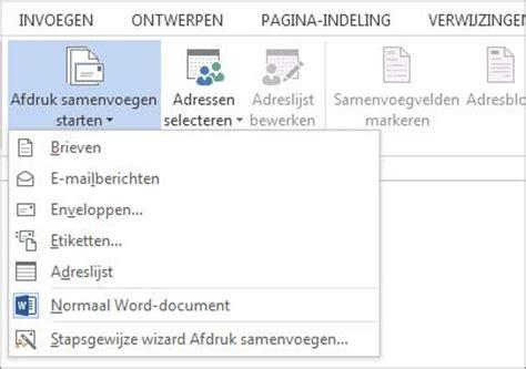 Brief Word Samenvoegen Adressen Excel Afdruk Samenvoegen Met Een Excel Werkblad Word