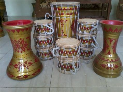 Marawis Batik 1 harga rebana marawis motif batik sentra rebana