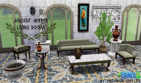 the athenian room ancient greece living room set at historical sims 187 sims 4 updates