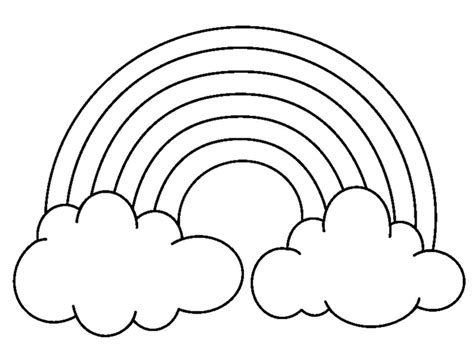 rainbow coloring page kindergarten reading words around the rainbow kindergarten korner